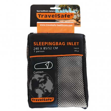Lenjerie sac de dormit Travelsafe cotton mummy TS0315, 240x85/52cm, bej, bumbac [3]