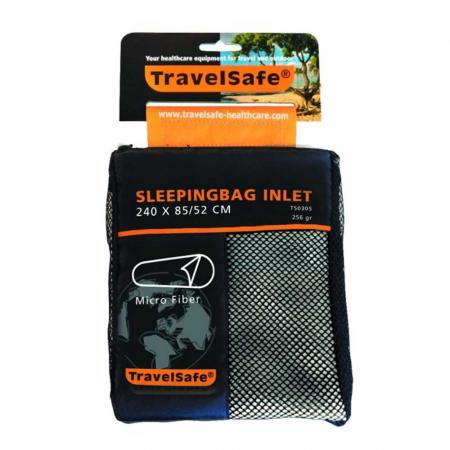 Lenjerie sac de dormit Travelsafe microfibre mummy TS0305, 240x85/52cm, microfibra, alb [0]