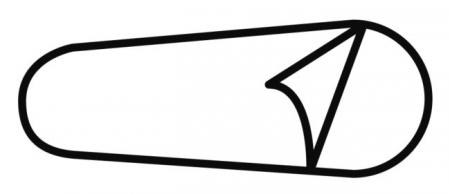 Lenjerie sac de dormit Travelsafe microfibre mummy TS0305, 240x85/52cm, microfibra, alb [1]