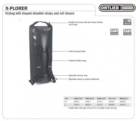 Rucsac impermeabil Ortlieb X-Plorer 59 l [1]