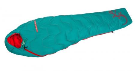Sac de dormit cu puf Freetime Micropak 600D (12/8/-4°C), verde, 210x78cm, 580g, impachetat 26×12cm [1]