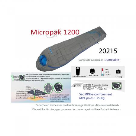Sac de dormit Freetime Micropak 1200 (9/5/-10°C) [2]
