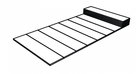 Saltea pliabila Pinguin Fold Alu, 185x55x1.5cm, impachetat 55x13x13cm, 470g [5]