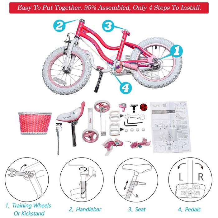 Bicicleta RoyalBaby Star Girl 16'' Pink [4]