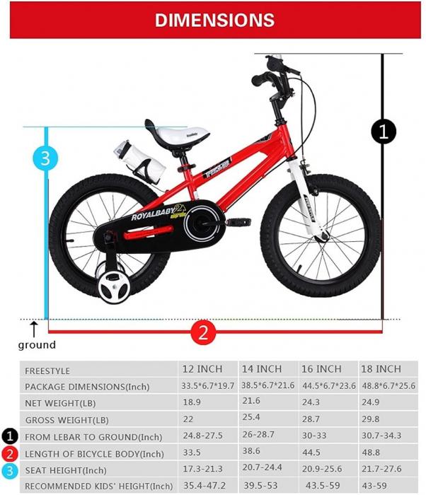 Bicicleta RoyalBaby Freestyle 16'' Red [2]