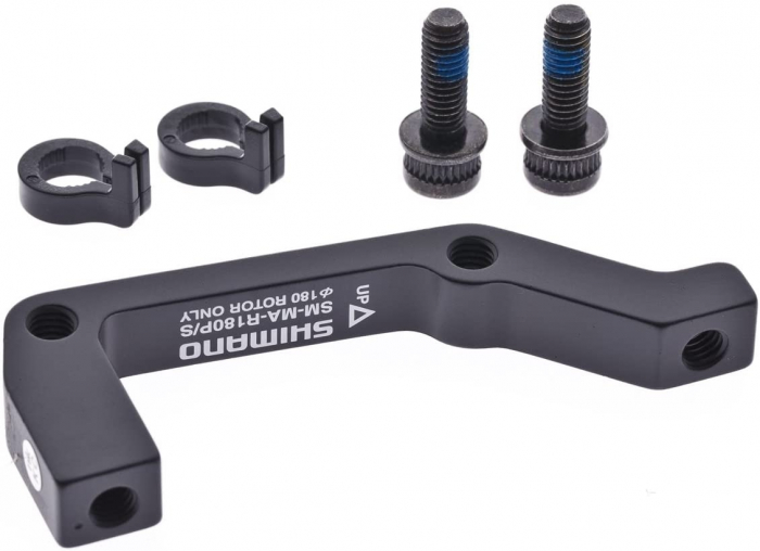 Adaptor montaj etrier fata Shimano SM-MA-F180P/S Post/Stand 180mm negru [0]