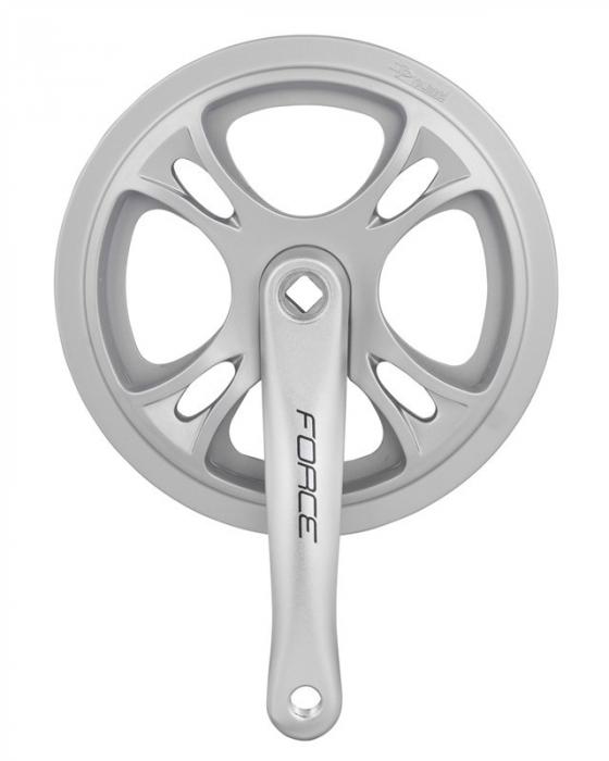 Angrenaj pedalier Force, ax patrat, brate de 170mm, argintiu, 48T [0]