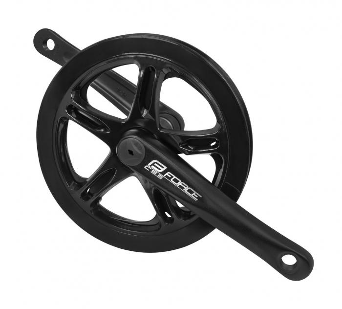 Angrenaj pedalier Force C5.5, brate 170mm, ax patrat, aluminiu, negru, 48T [0]