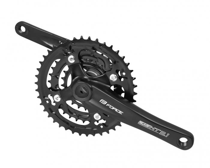 Angrenaj pedalier Force Eight 3.1 AL 42/32/22T 175 mm negru [0]