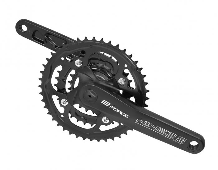 Angrenaj pedalier Force Nine 3.2 AL 44/32/22T 175 mm negru [0]