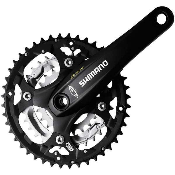 Angrenaj pedalier Shimano FC-M521-L 3x9 octalink negru [0]