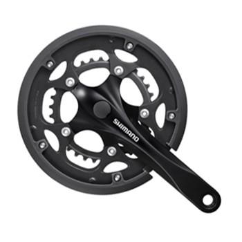 Angrenaj pedalier Shimano FC-RS200, ax patrat, brate 170mm, negru, 50/34 [0]