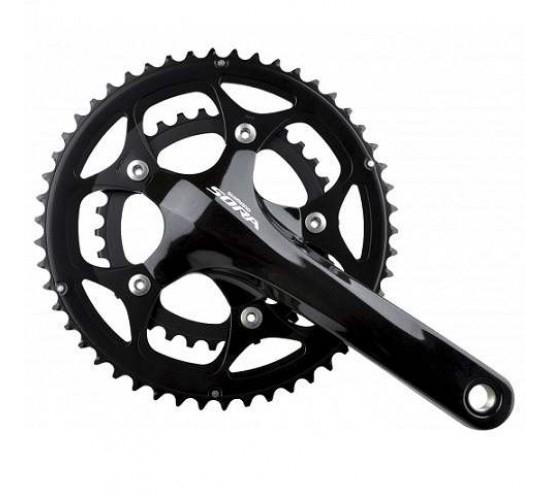 Angrenaj pedalier Shimano Sora FC-3550, 2X9 vit, brate 175mm, fara BGB, 46X34T [0]