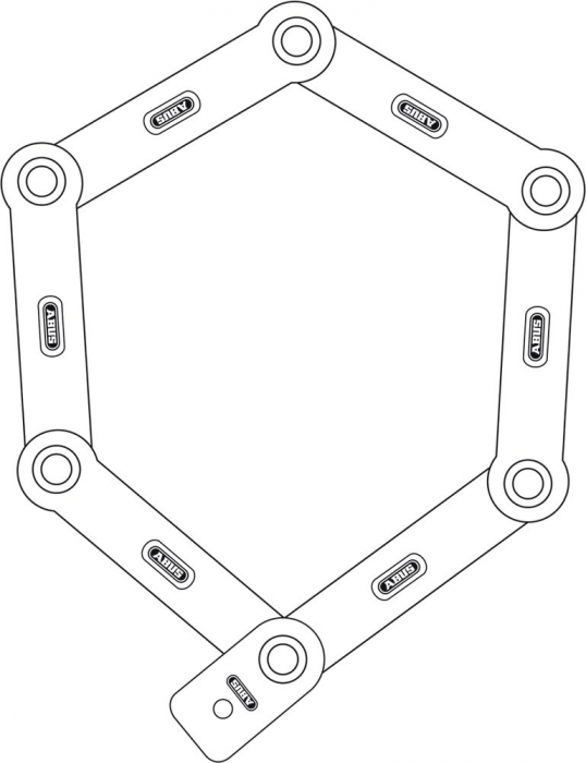 Antifurt modular Abus uGrip Bordo 5700/80 rosu [2]