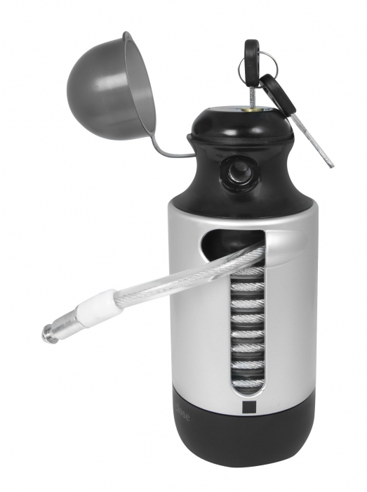 Antifurt Force Bottle Lock 150cm/7 mm negru [1]