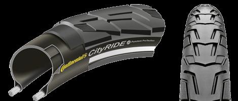 Anvelopa rigida Continental Ride City Reflex Puncture-ProTection, 37-622 (28*1 3/8*1 5/8), negru [0]