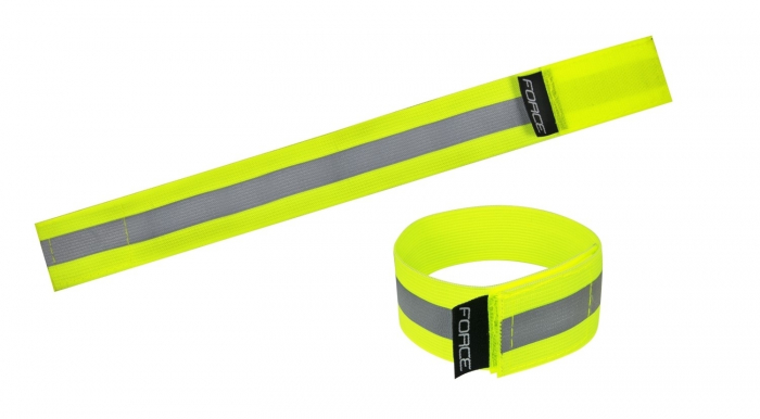 Banda reflectorizanta Force Lun Velcro, fluo [0]