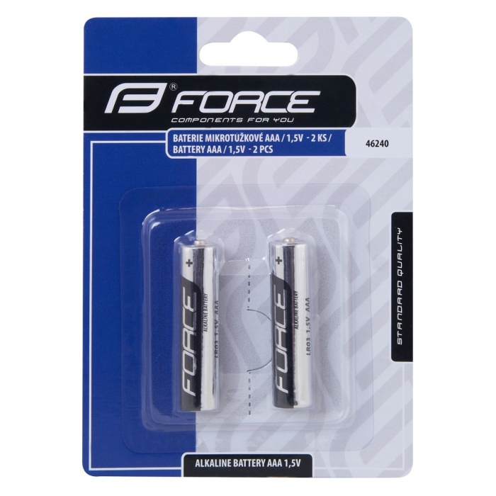 Baterii Alkaline Aaa Force 46240 1.5V 2 Bucati [0]