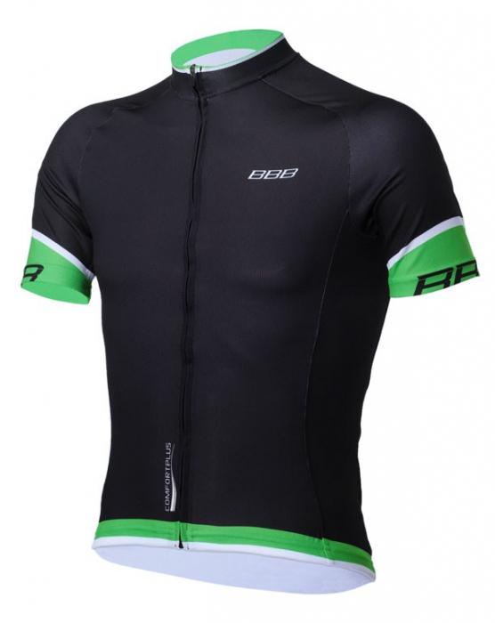 Tricou cu maneca scurta BBB ComfortFit s.s. BBW-246 negru/verde XXXL [0]