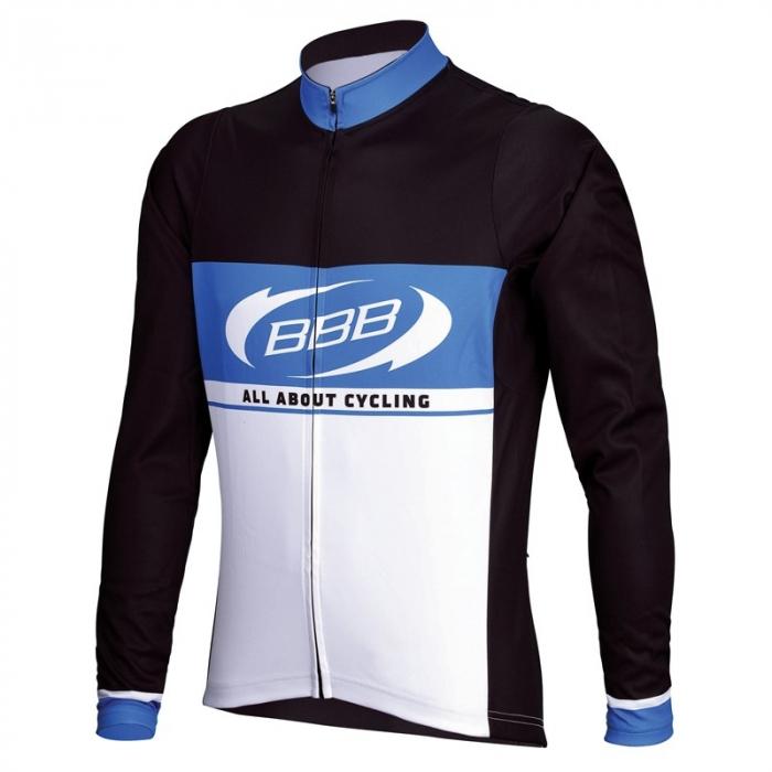 Tricou cu maneca lunga BBB Team Jersey BBW-252, pentru copii, Negru/Albastru/Alb 140 [0]