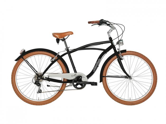 Bicicleta Adriatica Cruiser Man 26 6V neagra 45 cm [0]