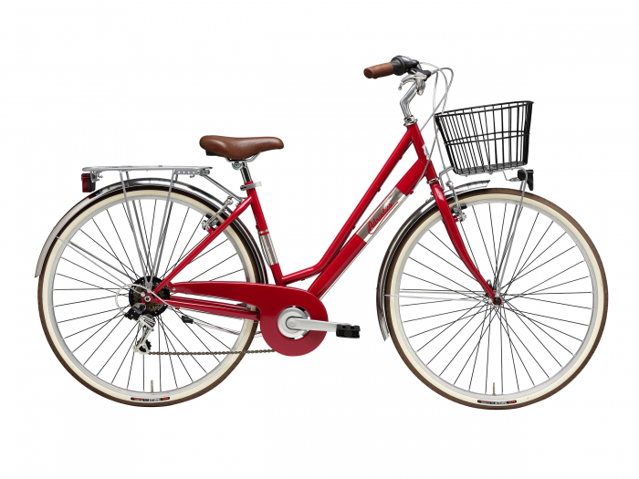 Bicicleta Adriatica Panarea Lady 28 Rosu/Alb 450mm [0]