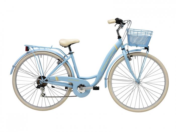 Bicicleta Adriatica Panda 28 Lady 6V bleu mat 42 cm [0]