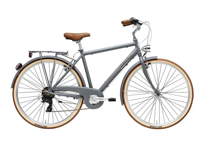 Bicicleta Adriatica Retro Man 28 Gri Mat 550mm [0]