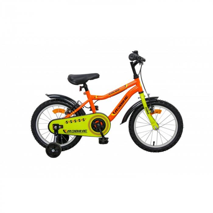 Bicicleta copii Robike Racer 16 portocaliu/verde [0]