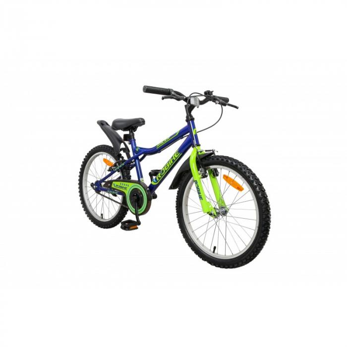Bicicleta copii Robike Racer 20 albastru/verde [1]
