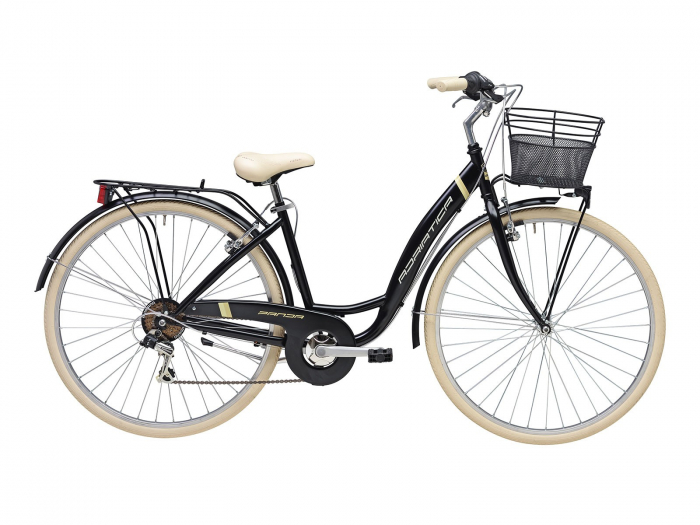 Bicicleta Adriatica Panda 28 Lady 6V neagra matt 42 cm [0]