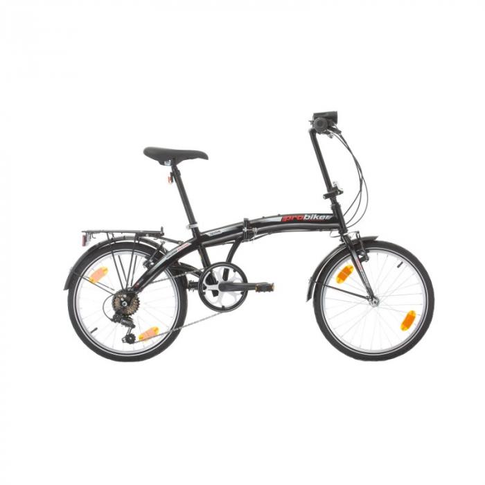 Bicicleta pliabila Sprint Probike Folding 20 6sp Negru [0]