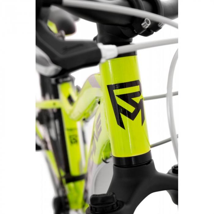Bicicleta Rock Machine Storm 24'' MD Galben/Gri [4]
