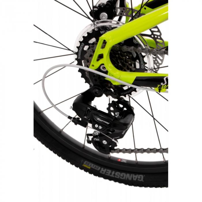 Bicicleta Rock Machine Storm 24'' MD Galben/Gri [3]