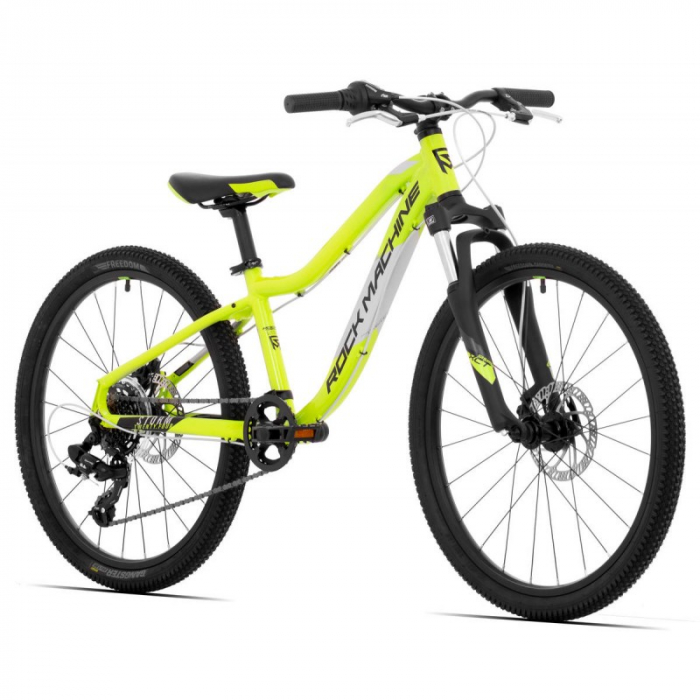 Bicicleta Rock Machine Storm 24'' MD Galben/Gri [1]