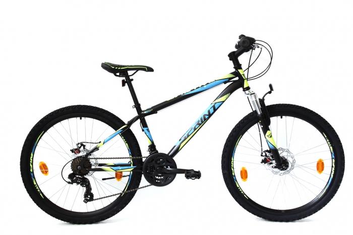 Bicicleta Sprint Active DD 26  2021  furca suspensie, black matt/blue 360mm [0]
