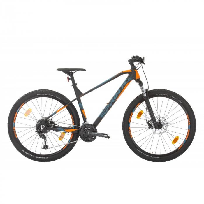 """Bicicleta Sprint Apolon 27.5"""" 2021 Negru/Portocaliu  - 400 mm [0]"""