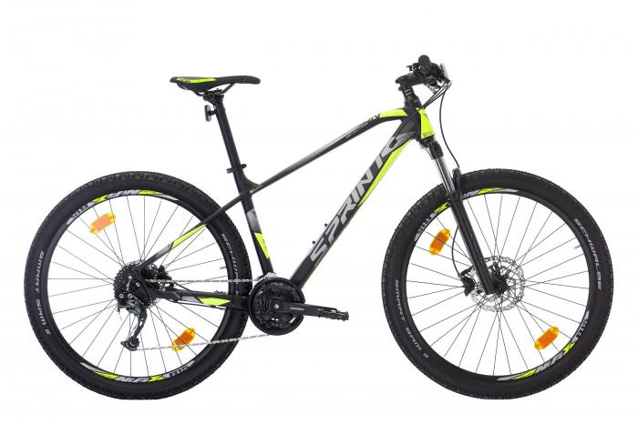 "Bicicleta Sprint Apolon 29"" Negru Mat/VerdeNeon 2021 - 480 mm [0]"
