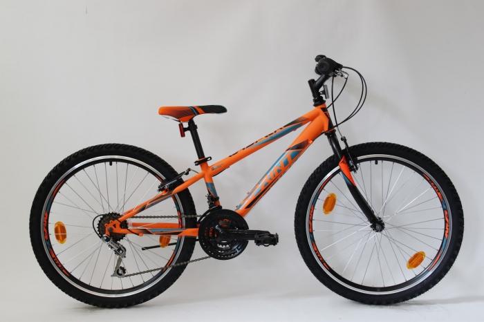Bicicleta Sprint Casper 24 Hardtail 2021, portocaliu mat [1]