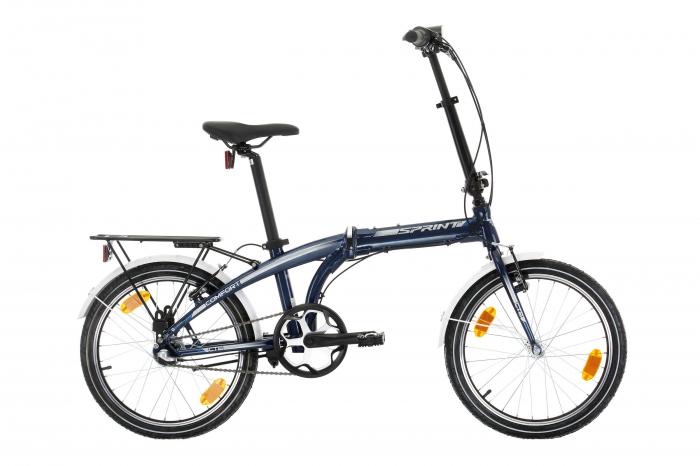 """Bicicleta Sprint Tour 20"""" Nexus 3 albastra 2021 [0]"""