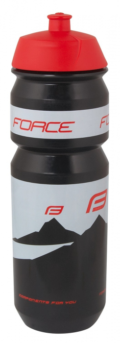 Bidon apa Force Hill 0.75l negru/rosu [1]