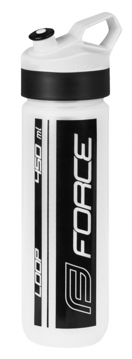 Bidon apa Force Loop 0.45L, transparent/negru [0]