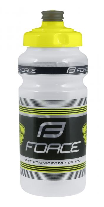 Bidon apa Force SKC Tufo 0.5l transparent/negru/galben fluo [0]