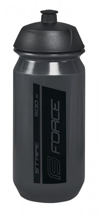 Bidon apa Force Stripe 0.5l Negru transparent [0]