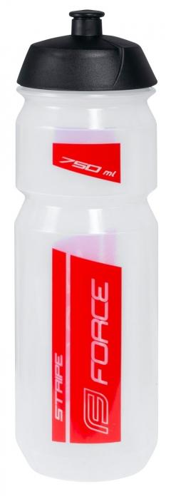 Bidon apa Force Stripe 0.75l transparent/negru [1]