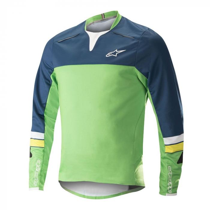 Bluza Alpinestar Drop Pro L/S Jersey poseidon blue/summer green L [0]