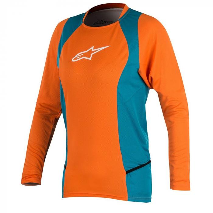 Bluza Alpinestar Stella Drop 2 L/S Jersey bright orange/ocean M [0]