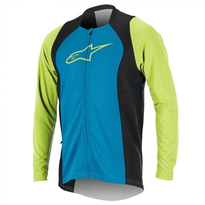Bluza Alpinestars Drop 2 Full Zip Long Sleeve Jersey bright blue/green XL [0]