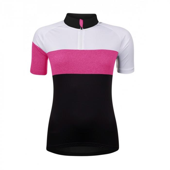 Tricou cu maneca scurta Force View, de dama, negru/alb/roz XS [0]