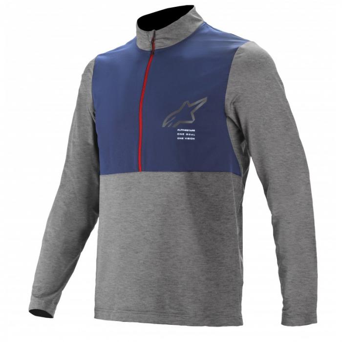 Bluza cu maneca lunga Alpinestars Nevada LS Jersey Gri/Albastru L [2]